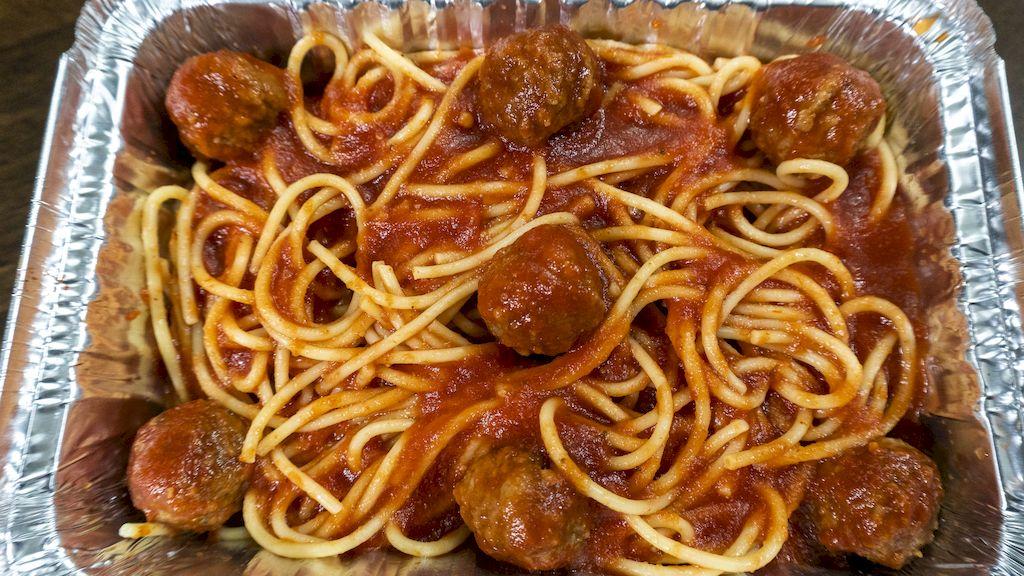 Linguini-meatballs